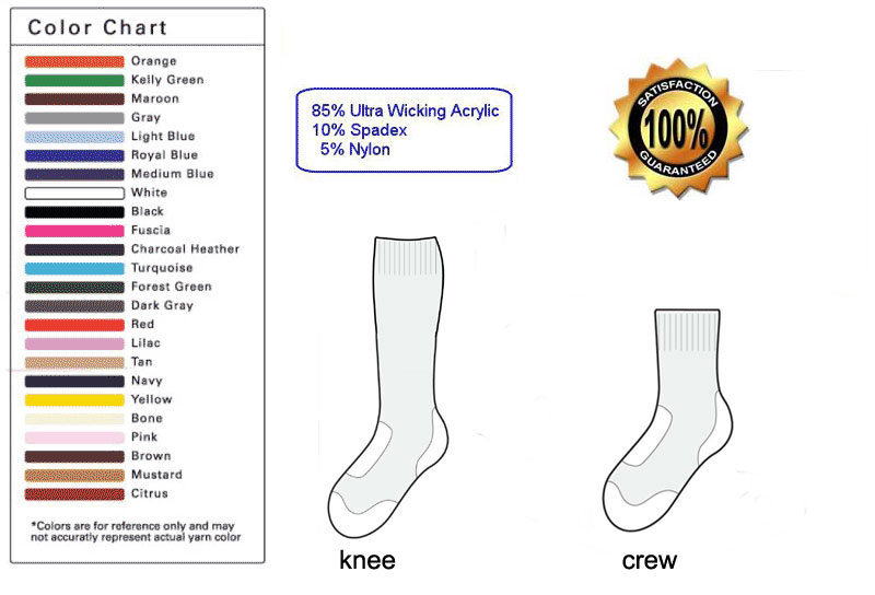 custom Lacrosse sock template